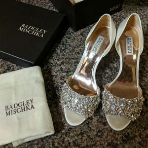 Badgley Mischka Hansen Crystal Embellished Sandal
